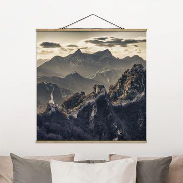 Foto su tessuto da parete con bastone - La Grande Muraglia cinese - Quadrato 1:1