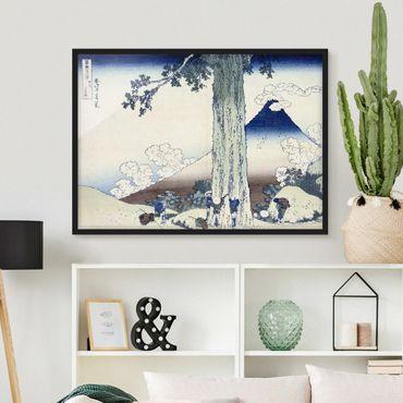Poster con cornice - Katsushika Hokusai - Mishima Pass In Kai Province - Orizzontale 3:4
