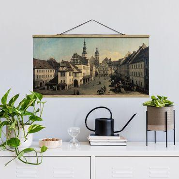 Foto su tessuto da parete con bastone - Bernardo Bellotto - La Piazza del Mercato a Pirna - Orizzontale 1:2