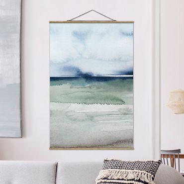 Foto su tessuto da parete con bastone - Ocean Waves I - Verticale 3:2