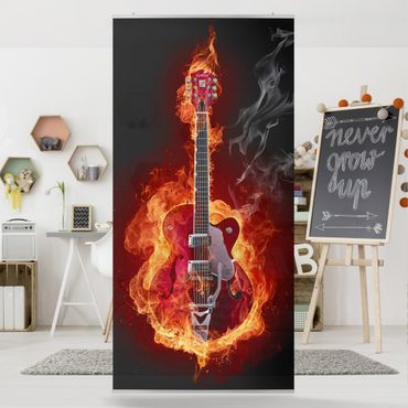 Tenda a pannello Guitar in Flames 250x120cm