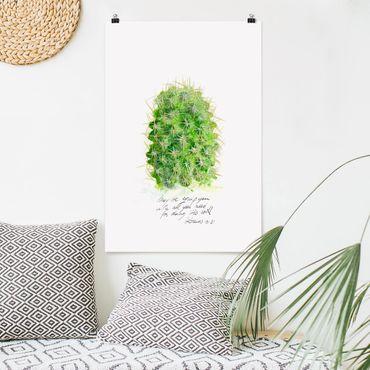 Poster - Cactus Con Bibellvers I - Verticale 3:2