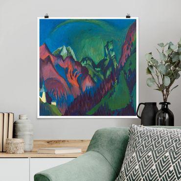 Poster - Ernst Ludwig Kirchner - Treni canyon a Monstein - Quadrato 1:1