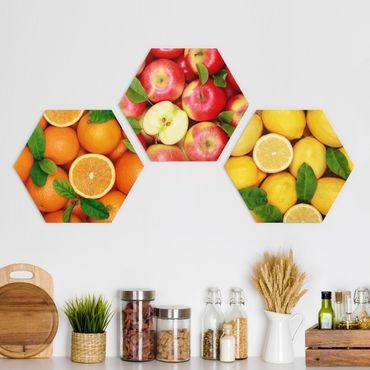 Esagono in Alu-dibond - Frutta fresca