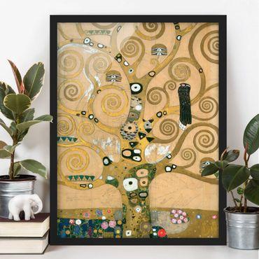 Poster con cornice - Gustav Klimt - L'albero della vita - Verticale 4:3