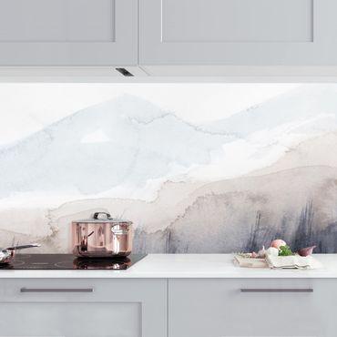 Rivestimento cucina - Montagne sul lago astratte I