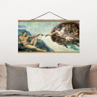 Foto su tessuto da parete con bastone - Michelangelo - Cappella Sistina - Orizzontale 1:2