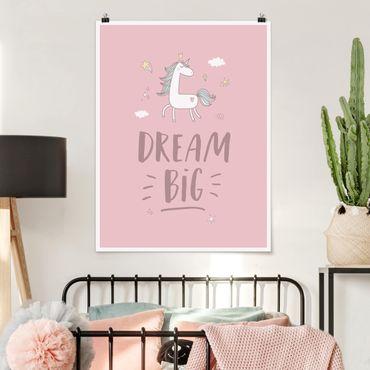 Poster - Sogno Big Unicorn - Verticale 4:3