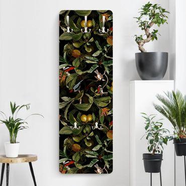 Appendiabiti - Uccelli con ananas verde