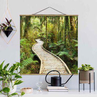 Foto su tessuto da parete con bastone - Percorso In The Jungle - Quadrato 1:1