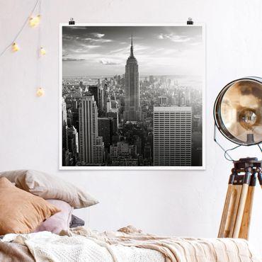 Poster - skyline di Manhattan - Quadrato 1:1