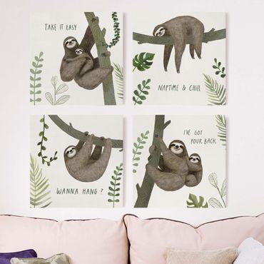 Stampa su tela - Sloth Proverbi Set II - 4 parti