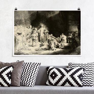 Poster - Rembrandt van Rijn - Cristo la guarigione dei malati - Orizzontale 2:3
