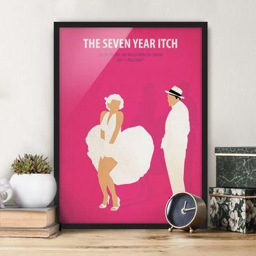 Poster con cornice - Poster del film La moglie è in vacanza - Verticale 4:3