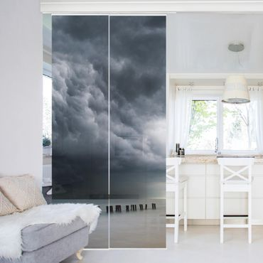 Tende scorrevoli set - Nubi di tempesta sul Mar Baltico