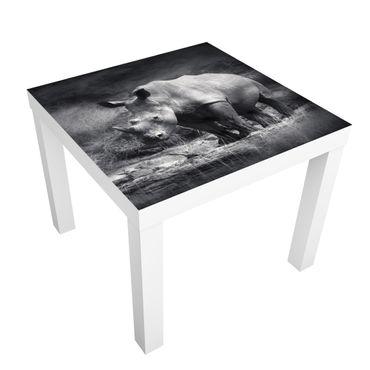 Carta adesiva per mobili IKEA - Lack Tavolino Lonesome Rhinoceros