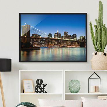Poster con cornice - Brooklyn Bridge In New York - Orizzontale 3:4