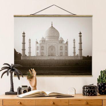 Foto su tessuto da parete con bastone - Taj Mahal - Orizzontale 3:4