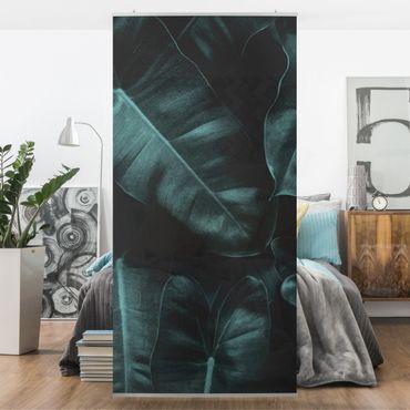 Tenda a pannello - Foglie della giungla verde scuro - 250x120cm
