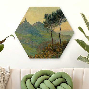 Esagono in legno - Claude Monet - Varengeville Evening Sun