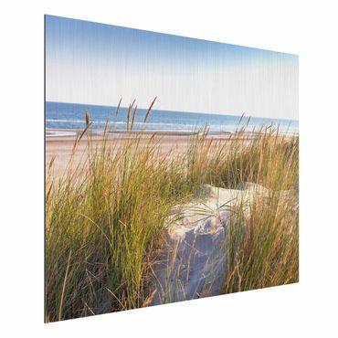 Stampa su alluminio spazzolato - Beach Dune Al Mare - Orizzontale 3:4