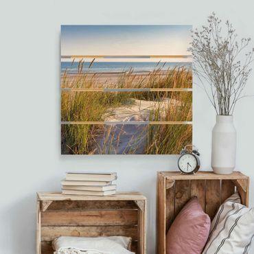 Stampa su legno - Beach Dune Al Mare - Quadrato 1:1