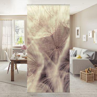 Tenda a pannello Detailed dandelions macro shot with vintage blur effect 250x120cm