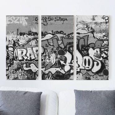 Stampa su tela 3 parti - Graffiti Art - Verticale 2:1