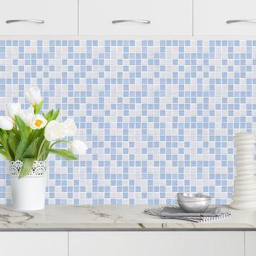Rivestimento cucina - Mosaici blu chiaro