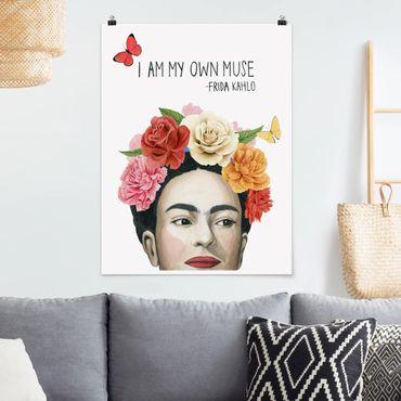 Poster - Pensieri di Frida - Muse - Verticale 4:3