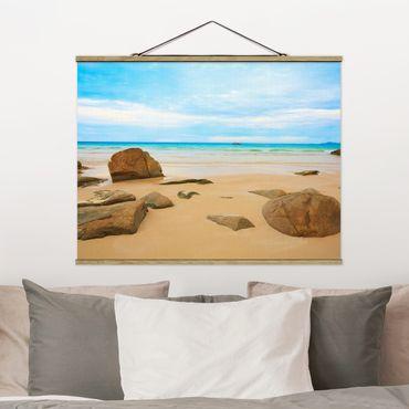 Foto su tessuto da parete con bastone - The Beach - Orizzontale 3:4