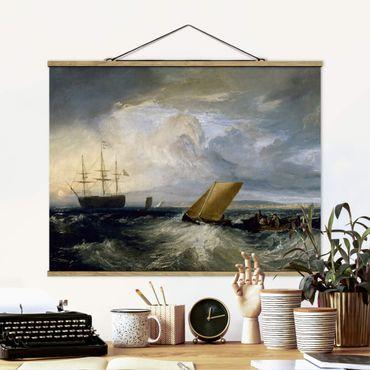Foto su tessuto da parete con bastone - William Turner - Sheerness - Orizzontale 3:4