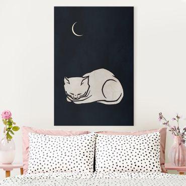 Stampa su tela - Illustrazione di gatto che dorme  - Verticale 3:2