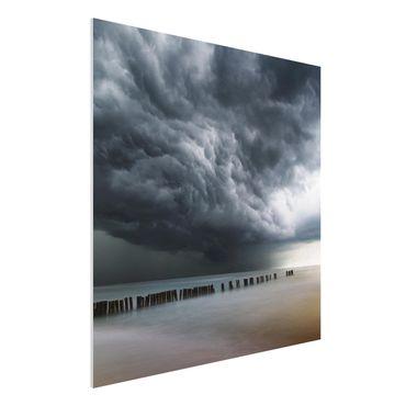Quadro in forex - Nubi di tempesta sul Mar Baltico - Quadrato 1:1