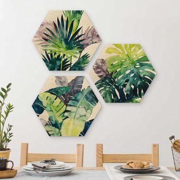 Esagono in legno - Exotic Foliage Set II