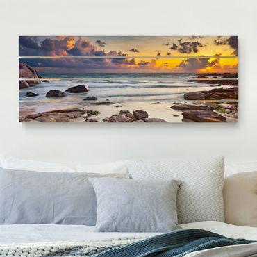 Stampa su legno - Sunrise Beach In Thailandia - Orizzontale 2:5