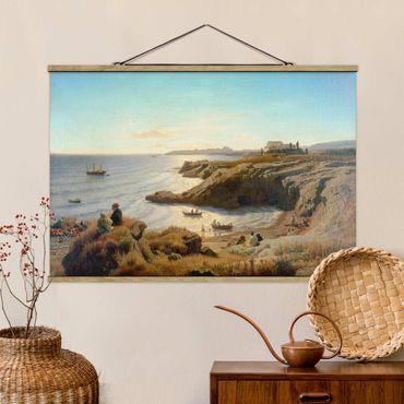 Foto su tessuto da parete con bastone - Andreas Achenbach - Costa A Siracusa - Orizzontale 2:3