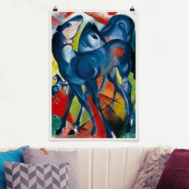 Poster - Franz Marc - The Blue Foals - Verticale 3:2