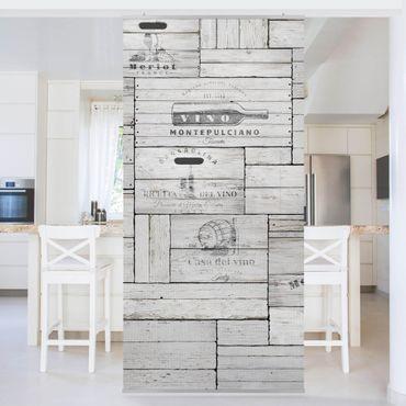 Tenda a pannello - Shabby Wooden Boxes - 250x120cm
