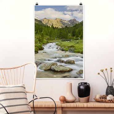 Poster - Debanttal Parco Nazionale degli Alti Tauri - Verticale 3:2
