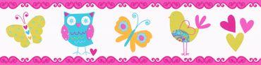 Carta da parati - A.S. Création Only Borders 9 in Blu Multicolore Arancione