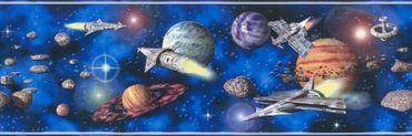 Carta da parati - A.S. Création Only Borders 9 in Blu Multicolore Nero