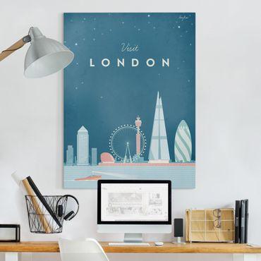 Stampa su tela - Poster Viaggio - Londra - Verticale 4:3