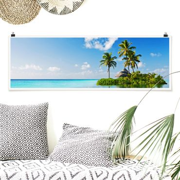 Poster - Tropical Paradise - Panorama formato orizzontale