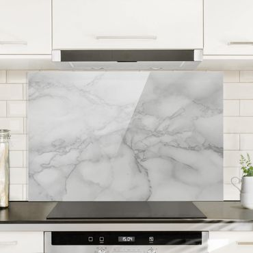 Paraschizzi in vetro - Marble Look Black And White