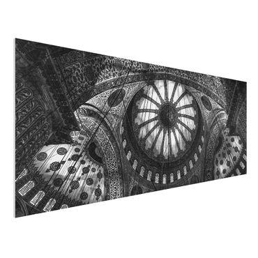 Quadro in forex - Le cupole della Moschea Blu - Panoramico