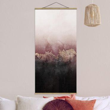 Foto su tessuto da parete con bastone - Elisabeth Fredriksson - Alba Dorata Rosa - Verticale 2:1