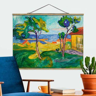 Foto su tessuto da parete con bastone - Edvard Munch - Il Giardino - Orizzontale 3:4