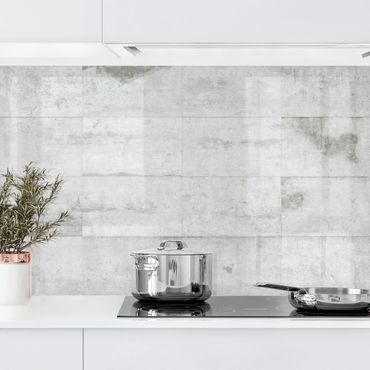 Rivestimento cucina - Parete effetto cemento