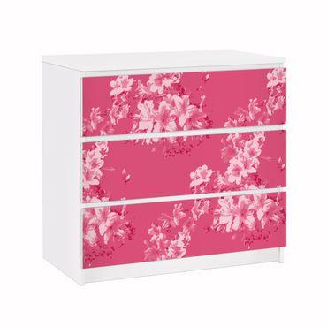 Carta adesiva per mobili IKEA - Malm Cassettiera 3xCassetti - Antique Flower Pattern